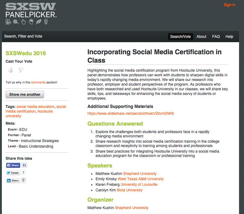 Social Media Certification Programs Karens Pr Social Media Blog